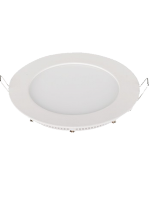 Mini panneau de surface encastrable LED 6W 230V - Rond - Blanc naturel
