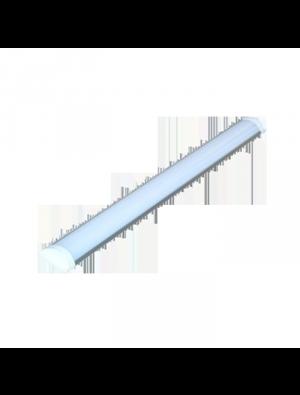 Tube LED 40W Aluminum Grill montage 120cm - Blanc chaud