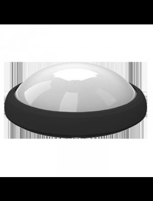 Dôme oval LED lumineux 12W - Rond Noir - Blanc naturel
