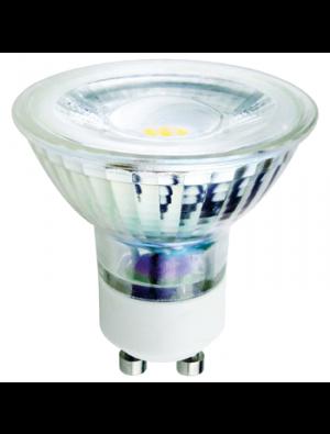 Spot LED 5W GU10 220V - En verre - Blanc chaud