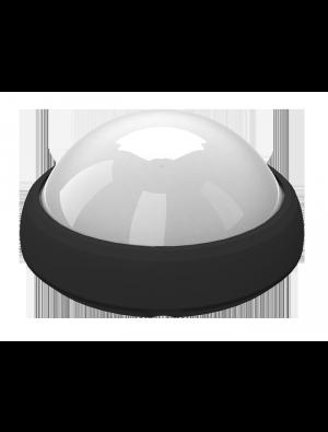 Dôme LED lumineux 12W - Rond Noir - Blanc froid