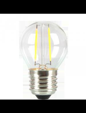 Ampoule LED 2W 230V E27 - Verre - Blanc Chaud