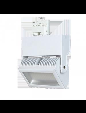Lampe rail LED Euro 48W - Blanc - Blanc froid