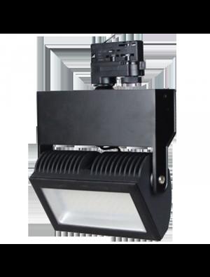 Lampe rail LED Euro 48W - Noir - Blanc froid