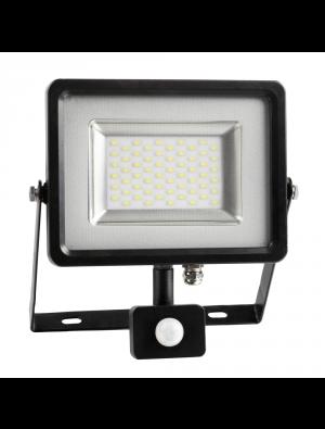 Projecteur LED 50W - PIR avec détécteur - Blanc chaud