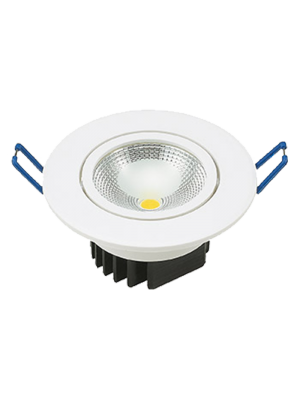 Spots LED encastrables COB 5W - Rond - Blanc chaud