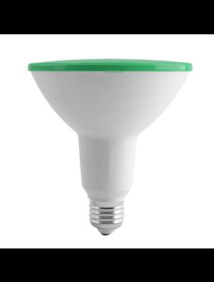 Ampoule LED 15W 230V PAR18 E27 IP65 - Vert