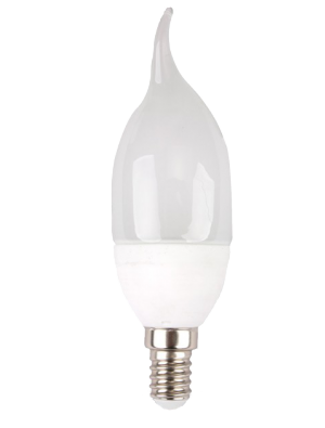 Ampoule LED - 4W 220V E14 - Bougie Flamme - Blanc chaud