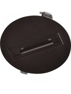 Plafonier 4 core pour les lampes rail 130mm - Noir
