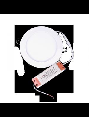Mini panneau encastrable LED 15W - Rond - Blanc froid