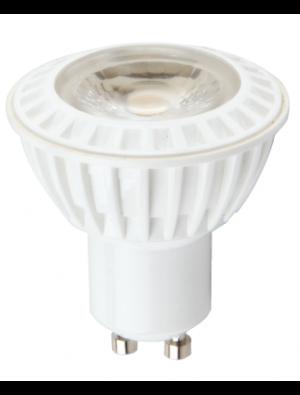 Spot LED 6W GU10 230V - COB plastique - Blanc chaud