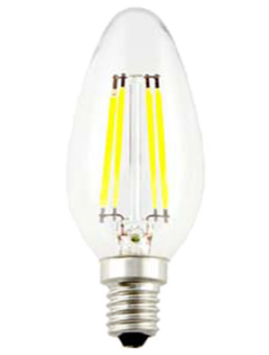 Ampoule LED 4W 230V E14 - Verre bougie dimmable - Blanc Chaud