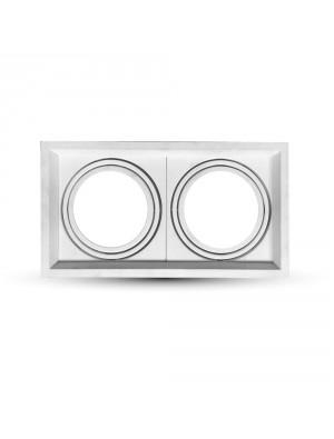 Montage pour spots LED 2xAR111 - Blanc
