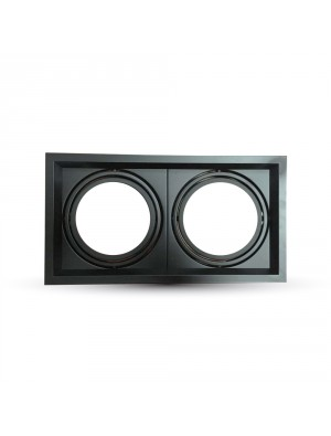 Montage pour spots LED 2xAR111 - Noir