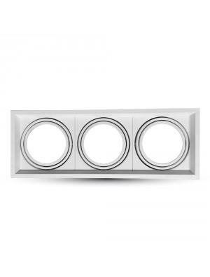 Montage pour spots LED 3xAR111 - Blanc