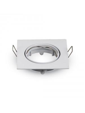 Montage pour spots LED GU10 Blanc Carré