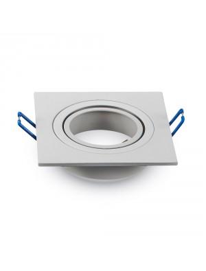 Montage pour spots LED 1*GU10 Blanc Carré