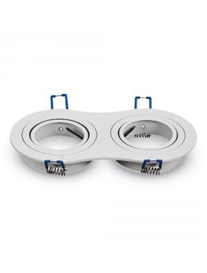 Montage pour spots LED 2*GU10 Blanc Rond