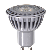 Spot LED 6W GU10 230V - Plastique blanc - LED COB - Blanc Froid