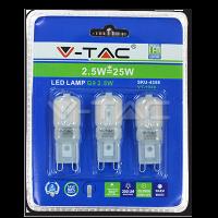 Spot LED 2.5W 230V G9 - Blister de 3pcs - Blanc froid