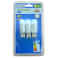 Spot LED 2W 230V G9 - Blister de 3pcs - Blanc Chaud