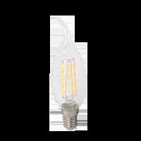 Ampoule LED 4W 230V E14 - Verre bougie flamme - Blanc Chaud