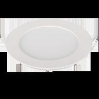 Mini panneau de surface encastrable LED 6W 230V - Rond - Blanc chaud