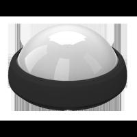 Dôme LED lumineux 12W - Rond noir - Blanc naturel