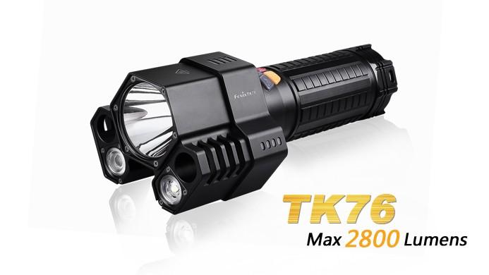 Fenix TK76 - 2800 LUMENS + 8 piles CR123A