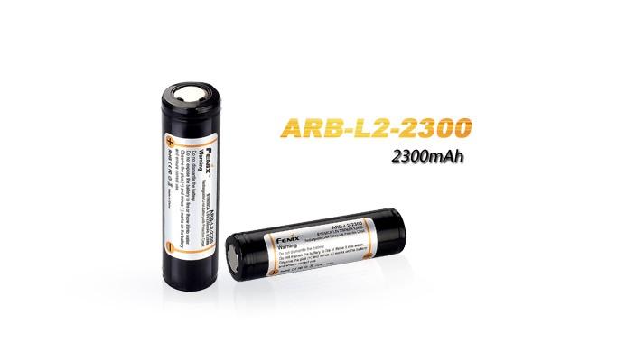 Pile rechargeable ARB-L2 (Nouveau nom Fenix pile ARB-L18) - modèle 18650, 2300mAh pour toutes les lampes Fenix utilisant des 18650