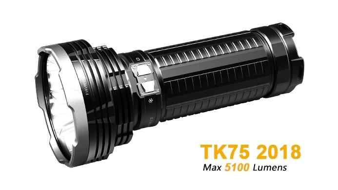 Fenix TK75 édition 2018 - 5100 Lumens - 850 mètres de portée