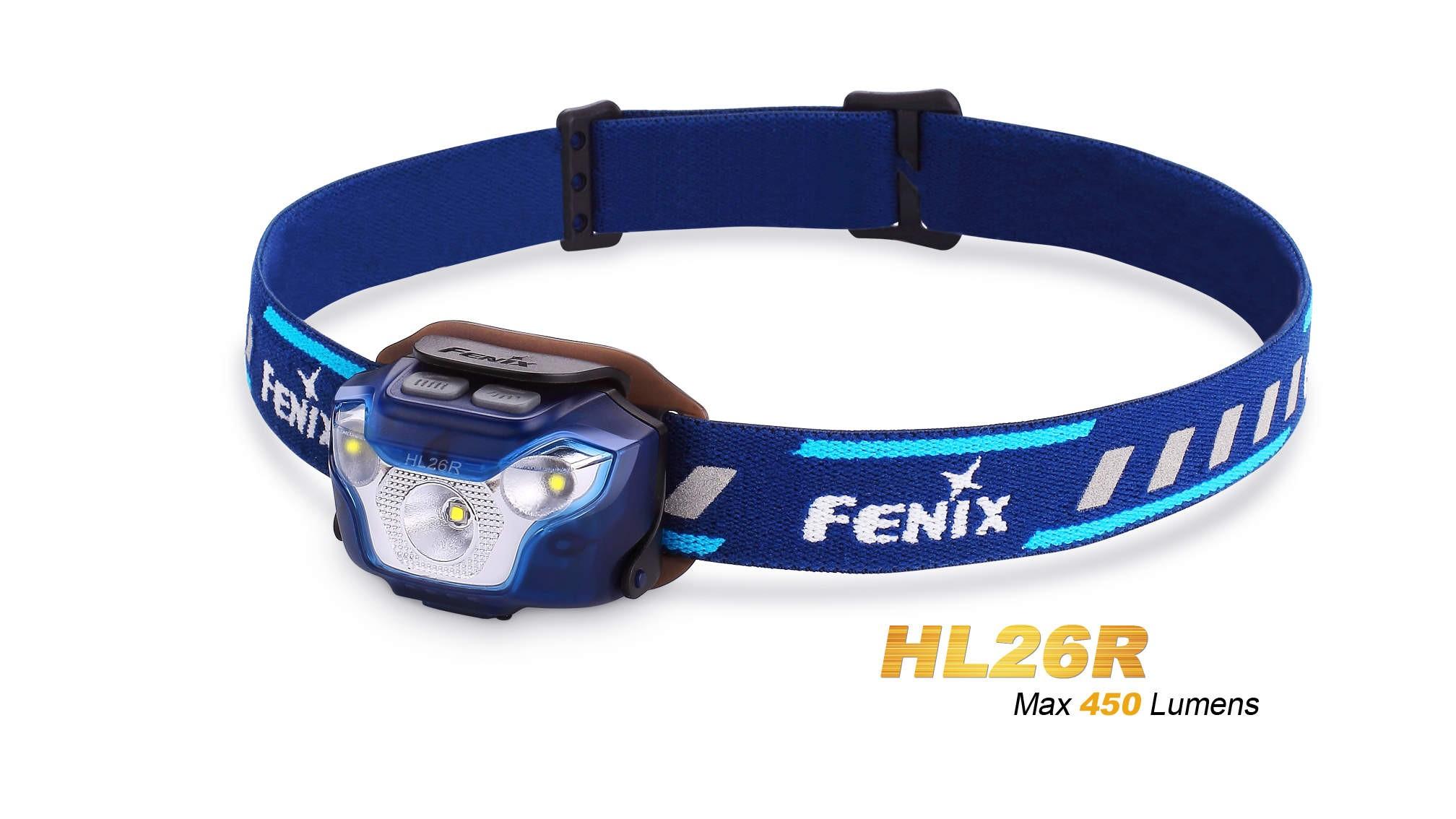 Fenix HL26R - 450 Lumens - avec pile rechargeable