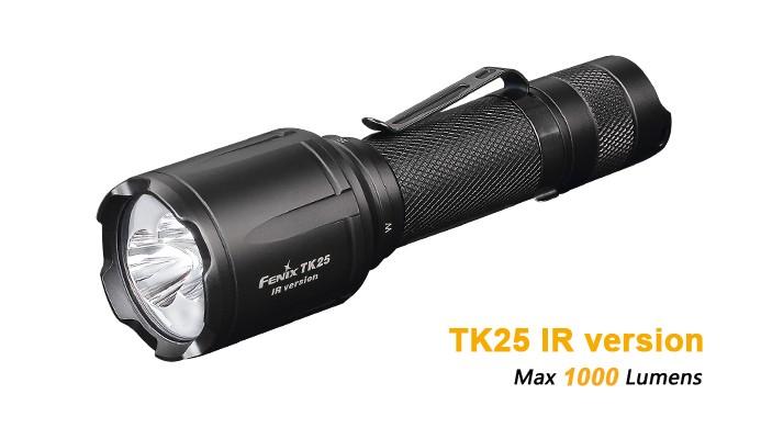 Fenix TK25 IR - 1000 Lumens - Blanc naturel et Infrarouge