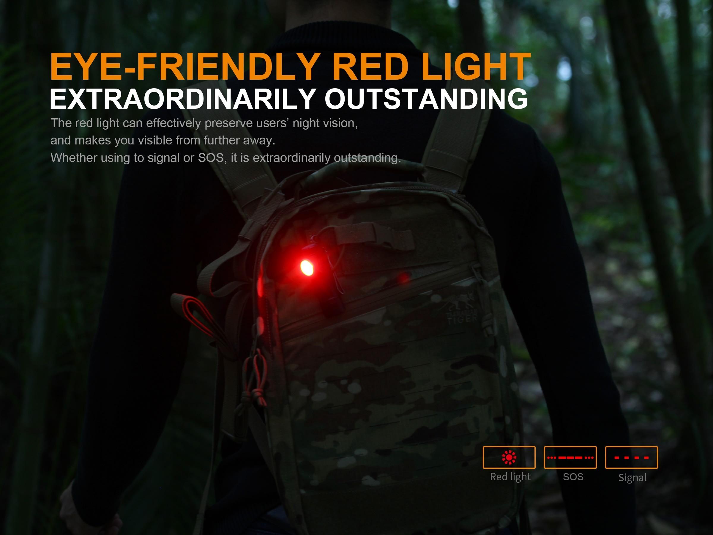 De À Droit Rechargeable Led Fenix Angle Poche Lampe Ld15r W2ED9YIH