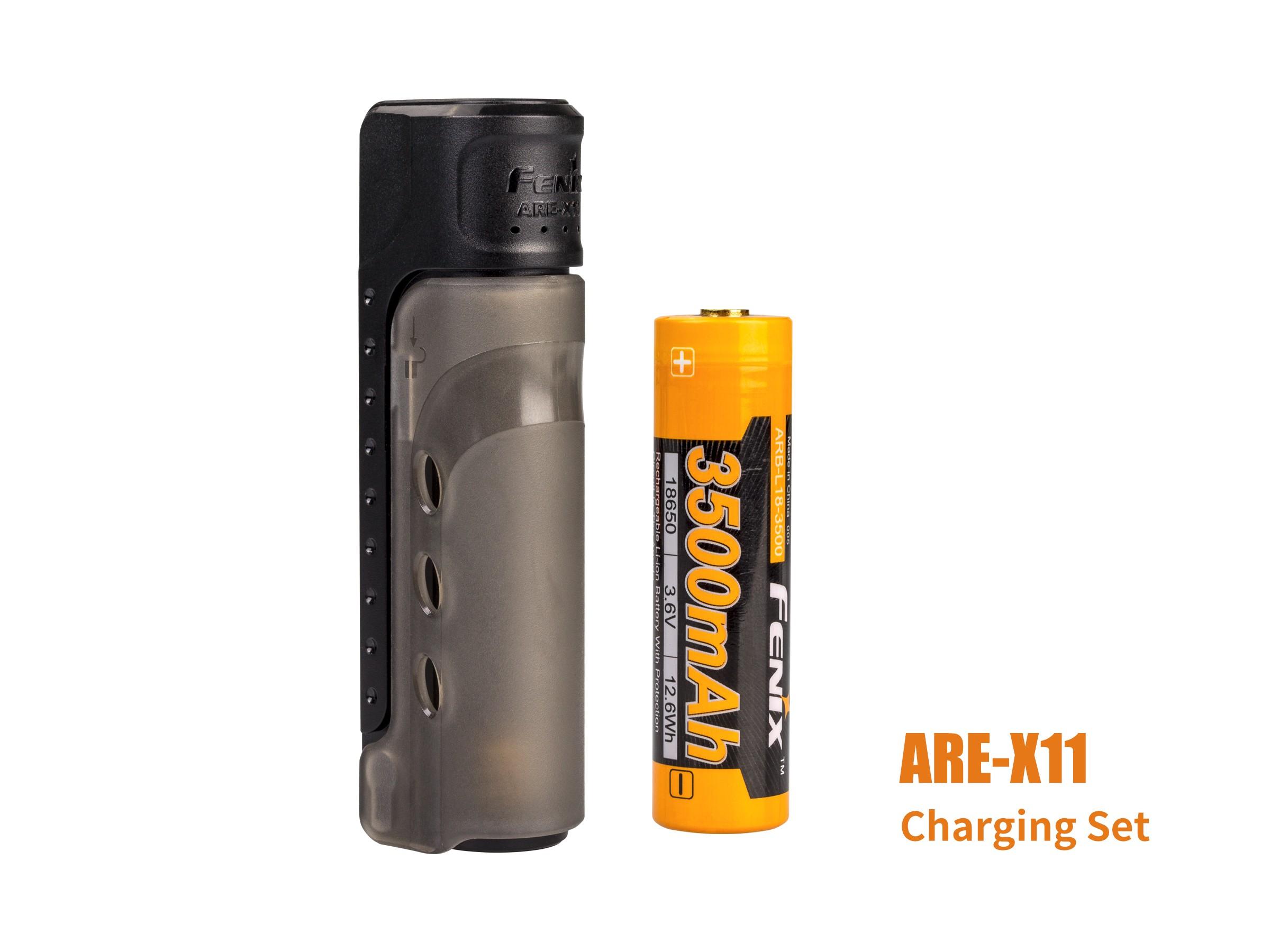 Chargeur ARE-X11 - câble USB inclus et pile 3500mAh