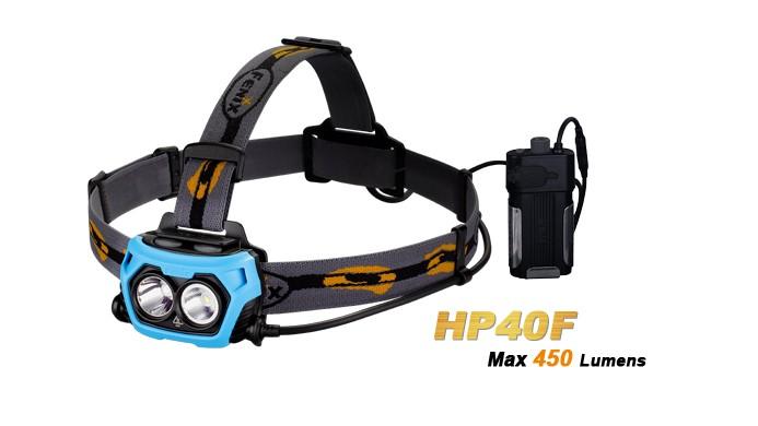 Fenix HP40F - Lumière Bleu ou Blanche - 450Lumens