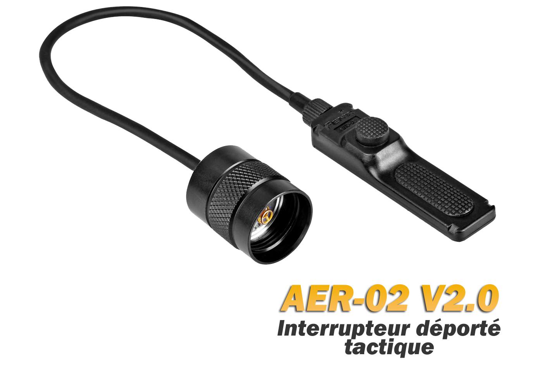 Interrupteur déporté AER-02 V2.0 - compatible Fenix TK15, TK22, TK15 UE, TK09, PD35V2.0, PD35 TAC, PD32, UC35, FD41, FD40
