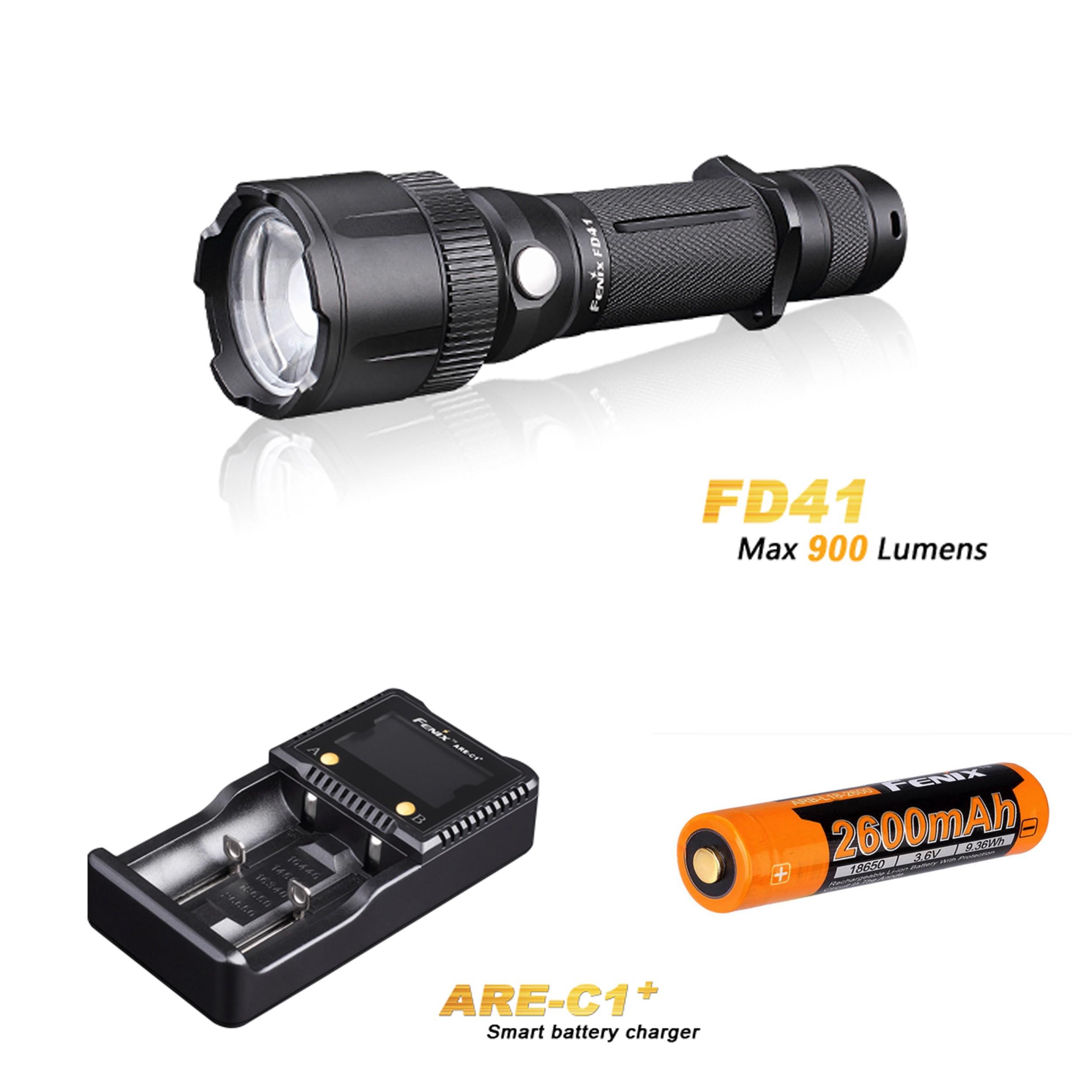 Pack Fenix FD41 - Faisceau réglable - rotation 360° - 900 Lumens