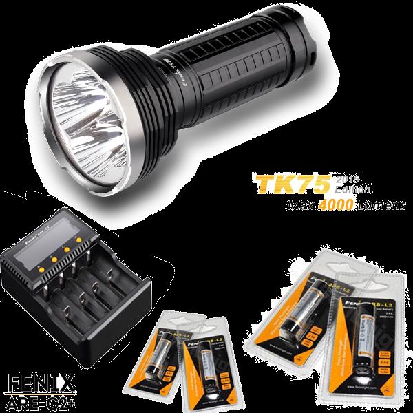Pack Fenix TK75 édition 2015 - 4000 Lumens