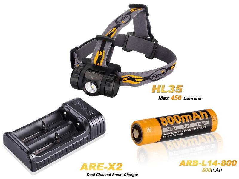 Pack Fenix HL35 LED Neutre Blanche - 450 Lumens