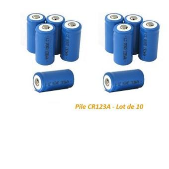 Pile CR123A - Lot de 10