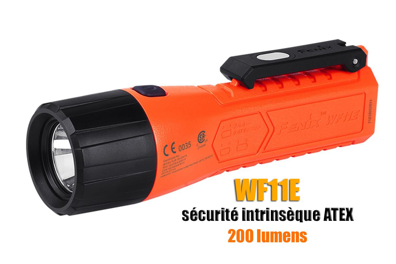 Fenix WF11E - Lampe torche à sécurité intrinsèque ATEX - 200 lumens