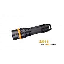 Fenix SD11 - Lampe de plongée - 1000 Lumens avec support caméra, appareil photo, trépied