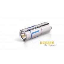 Fenix UC02 - mini lampe torche - 130 Lumens - rechargeable avec batterie - Or ou Bleu en Stainless steel