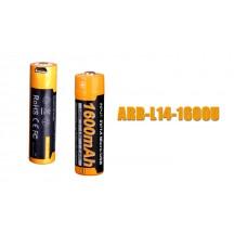 1 Pile rechargeable Fenix ARB-L14-1600U - 14500 - 1600 mAh pour LD11, LD12 éd. 2017 et E25 UE