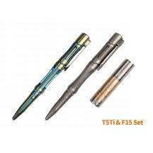 Coffret T5Ti Stylo tactique et lampe F15 (Édition limitée)