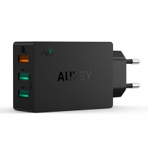 AUKEY PA-T2 chargeur mural 42W 3 ports Quick Charge 2.0 (Noir)