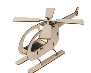 Maquette Hélicoptère solaire en bois