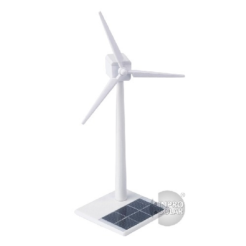Eolienne solaire ABS blanche 30cm