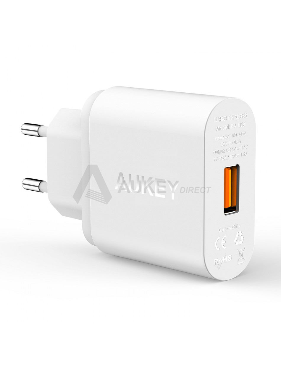 AUKEY PA-U28 chargeur mural Quick Charge 2.0 (Blanc)